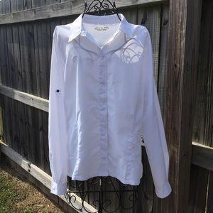 Royal Robbins White Snap Front Expedition Shirt